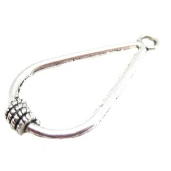 Vedhæng i tibet sølv 36 mm - gode til øreringe