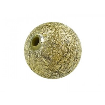 Silkebørstet guld 12 mm -...