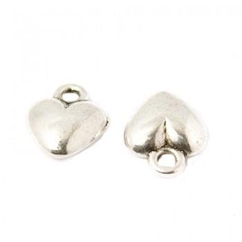 Hjerte i sølv belagt  12 mm...