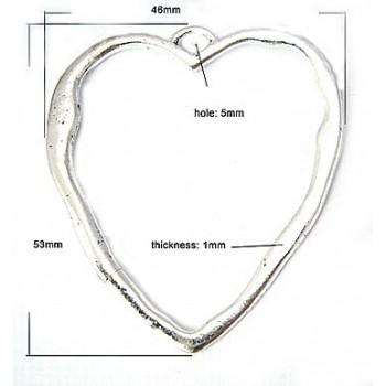 Smukt stort hjerte 53 mm