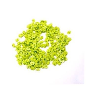Sommerfugle knap æble grøn 18 / 3 mm - 10 stk