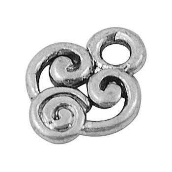 Vedhæng sølv 10 mm - 10 stk