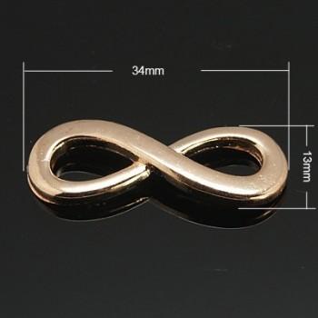 Forbindelses led / Uendeligheds tegn rosen guld, 34 mm
