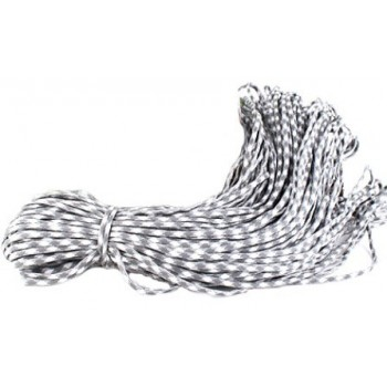 Faldskærmsline 6 mm Grå / Hvid mm - 1 m løbende