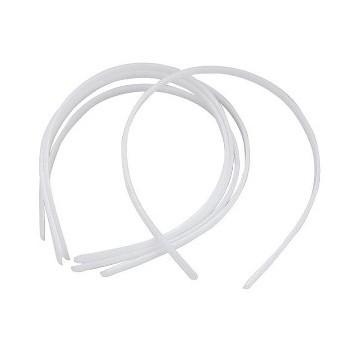 Hvide hårbøjler 0,8 mm bred