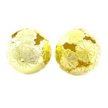Guld blomster kugle 16 / 1...