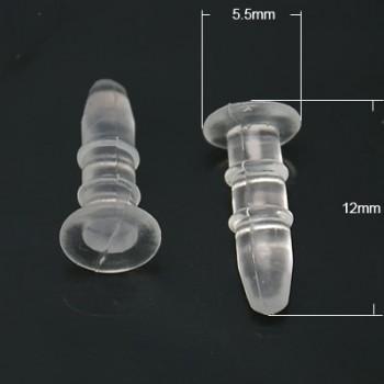 Mobilpynt  klar silikone - 10 stk