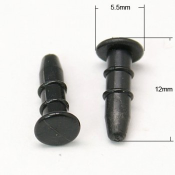 Mobilpynt sort silikone - 10 stk