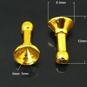 Mobilpynt  guld - 3 stk