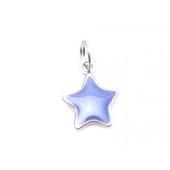 Stjerne med lilla emalje