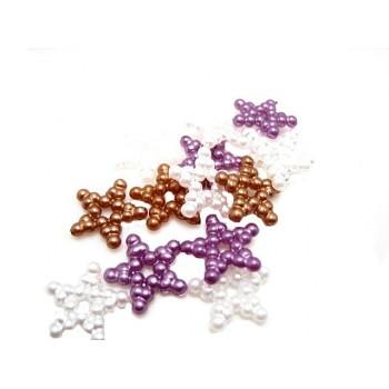 Hvid stjerne 11 mm - 10 stk