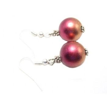 Julekugle øreringe - PINK /...