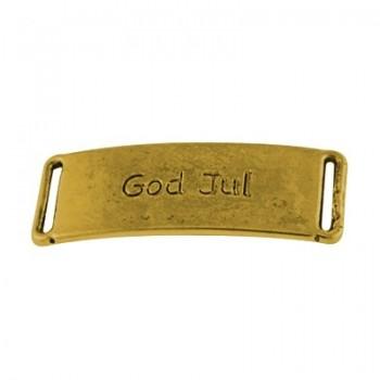 """Mellemdel / vedhæng """"GOD JUL"""" GULD - 2 stk"""