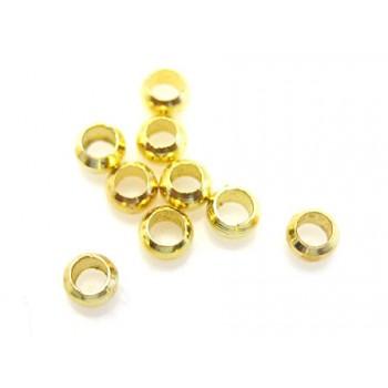 Wire klemme guld plate perler 2 mm - 50 stk