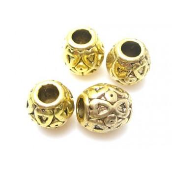 Guld perler med hjerte...