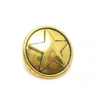 Militær stjerne knap Guld...