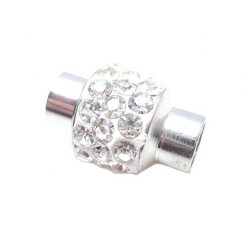 Magnet lås med klare stene 6mm indvendig