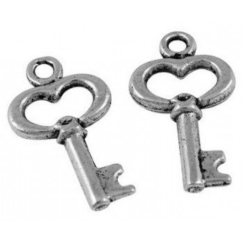 Nøgle 16 mm sølv - 6 stk