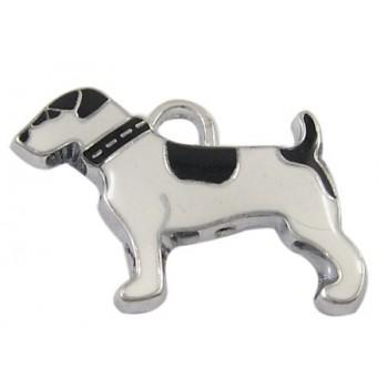 Hund med emalje 27 mm