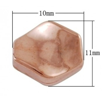 Twistet perle rosenguld 11/1 - 12 stk