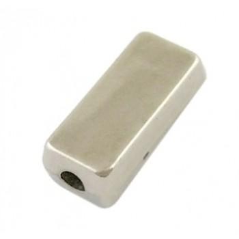 Sølv perle 13 mm - 15 STK