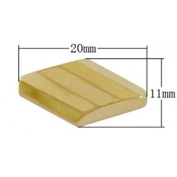 Rombe perle  GULD 20 mm - 6 STK
