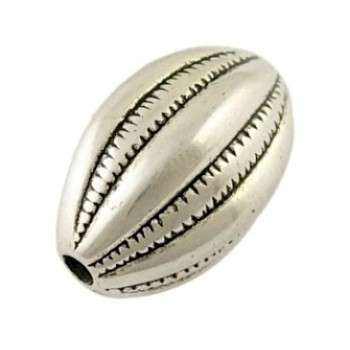 Sølv perle med mønster 18 /...