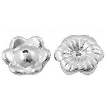 Sølv blomst 14 / 1,5 mm - 6 STK