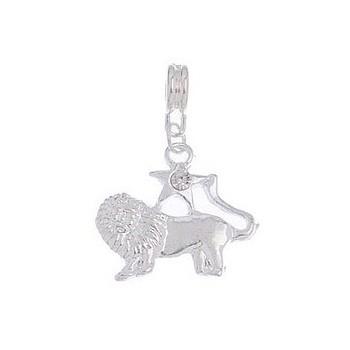 Løven sølv belagt 34 mm