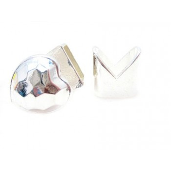 Hjerte lås med lukker sølv - 1 sæt