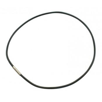 Gummi halskæde 2mm - 48 cm