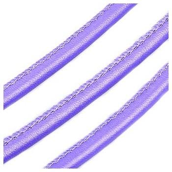 Randsyet / kantsyet LILLA IMIT læder 6 mm - 1 m - SUPERTILBUD