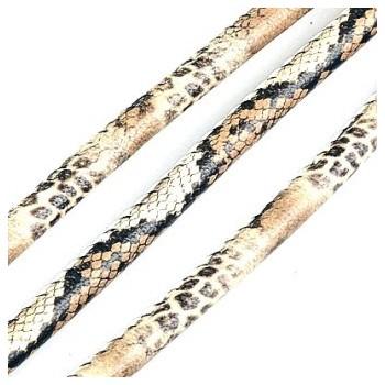 Randsyet / kantsyet IMIT slange sort / brun / creme 6 mm - 1 m - SUPERTILBUD