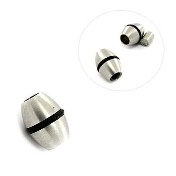 Stål lås medgummi og magnet 4 mm hul