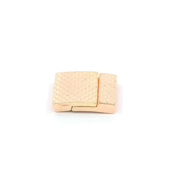Flad magnet lås - Rosenguld 18 x 3 mm hul