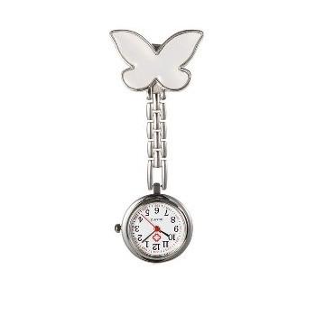 Sygeplejer ur sommerfugl Hvid 87 mm