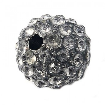 Rhinstens perle gun metal...