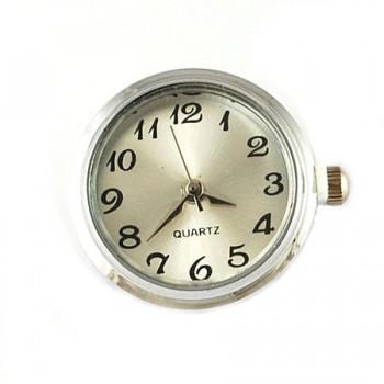Tryk knap ur sølv