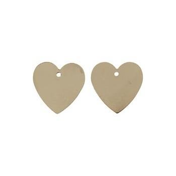 Hjerter guld 17 mm - 2 STK