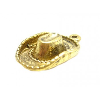 Cowboyhat 23 mm Antik guld