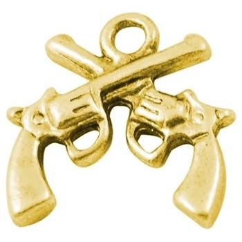 Pistol guld 16 mm - 2 stk