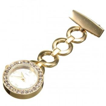 Sygeplejer ur stål i guld - 8,6 cm