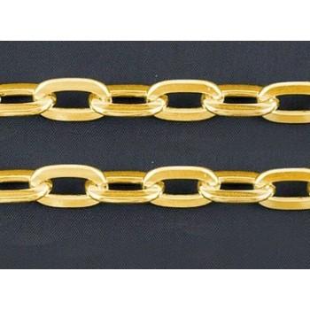 Mega kæde 15 x 9 mm guld - løbende m