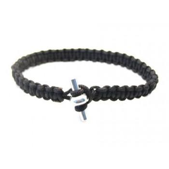 Smukt sort knyttet armbånd - Vælg størrelse