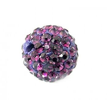 Perle med stene 10 / 1 mm - Lilla