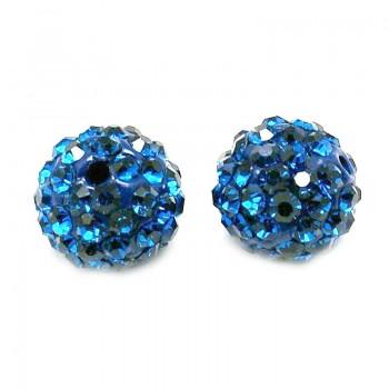 Perle med stene 10 / 1,5 mm - Blå
