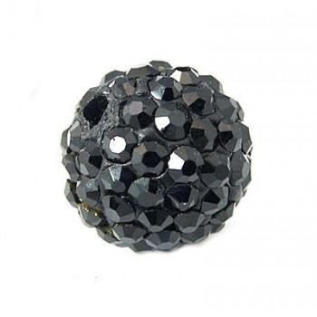 Perle med stene 10 / 1 mm - Sort