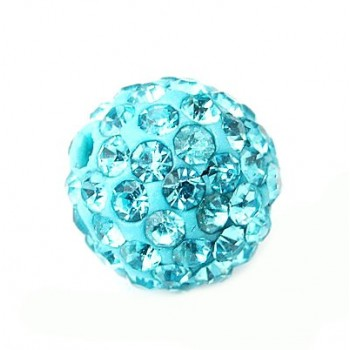 Perle med stene 10 / 1 mm - Turkis