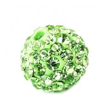Perle med stene 10 / 1,5 mm - Grøn