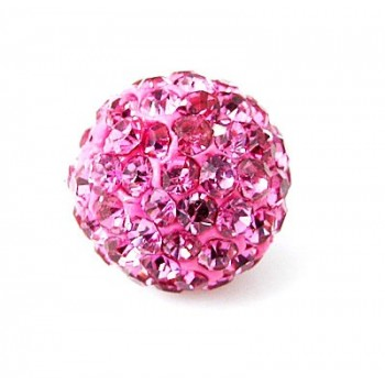 Perle med stene 10 / 1 mm - Pink